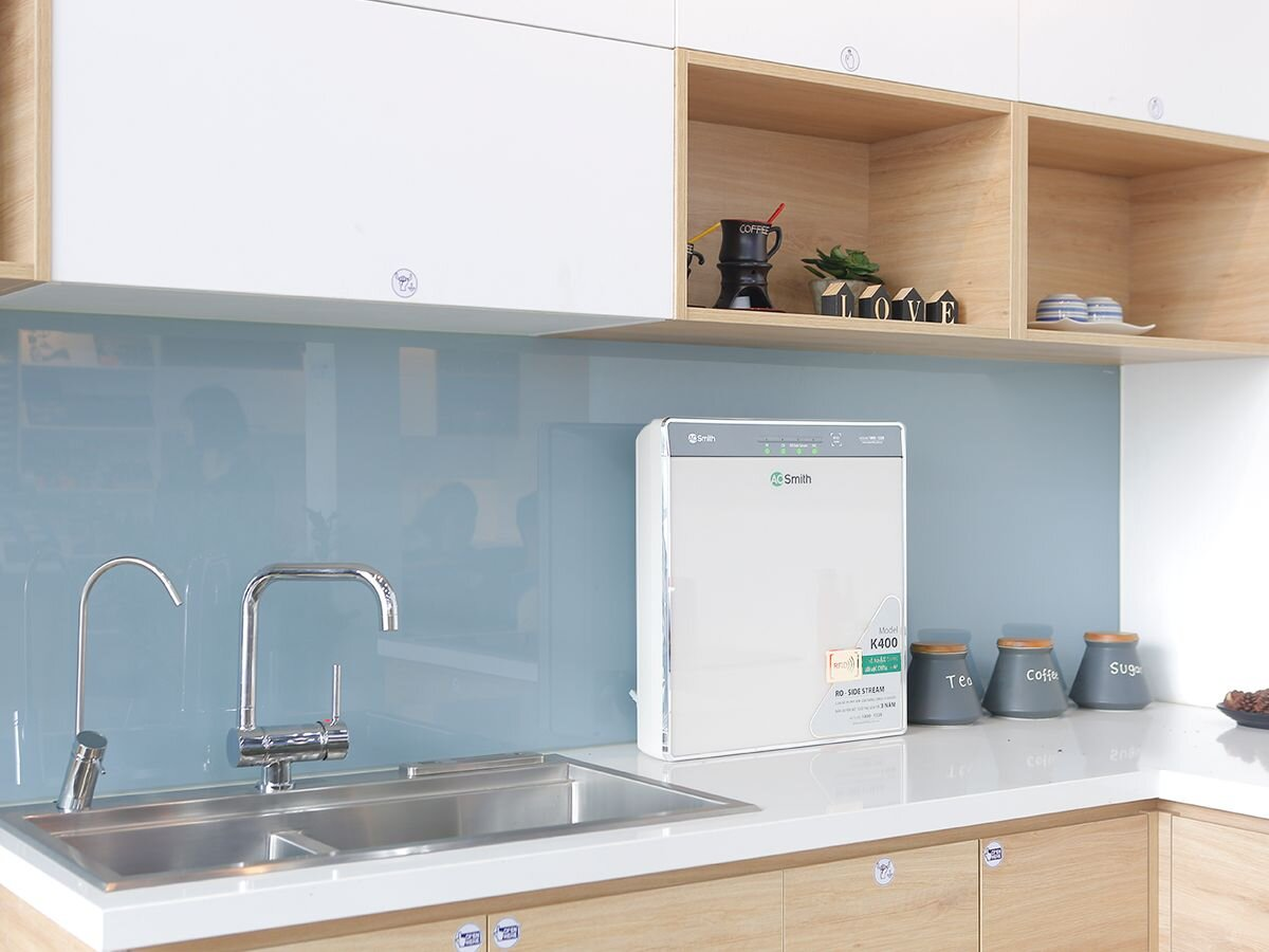 Máy lọc nước công nghệ RO A.O.Smith phù hợp không gian bếp hiện đại