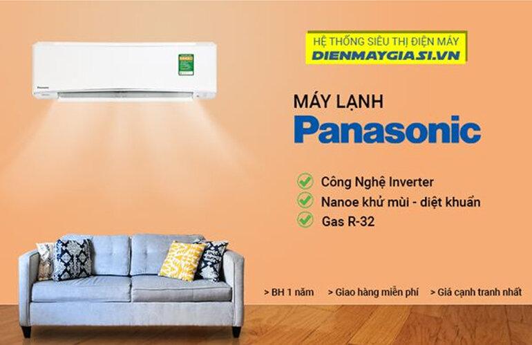 Máy lạnh Panasonic inverter 1HP mẫu mới nhất thị trường đang có giá tốt chỉ 9.000.000 vnđ