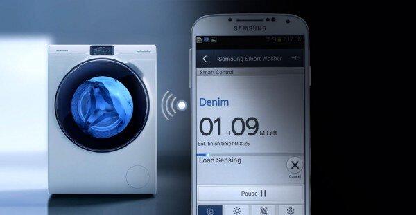 Kết nối với điện thoại để điều chỉnh chương trình giặt