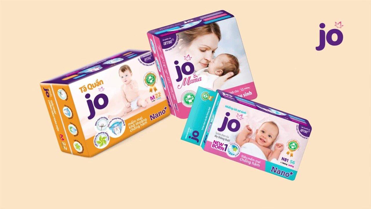 Jo cung cấp các sản phẩm tã bỉm cho mẹ và bé