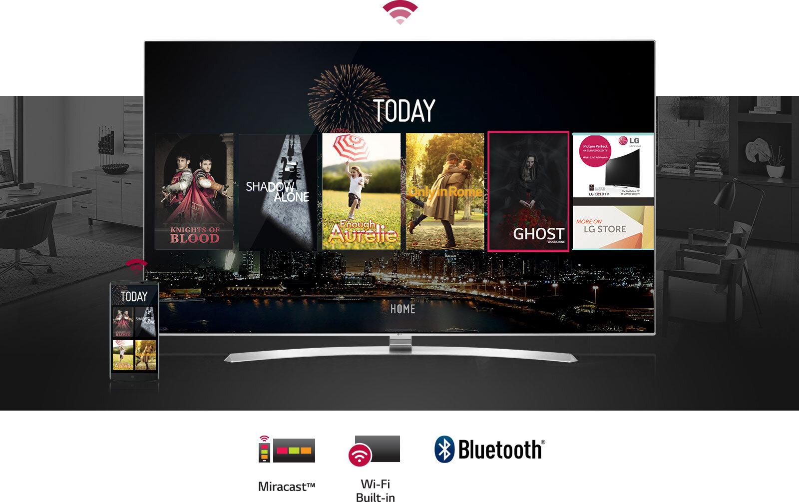 Smart tivi LG tích hợp nhiều ứng dụng