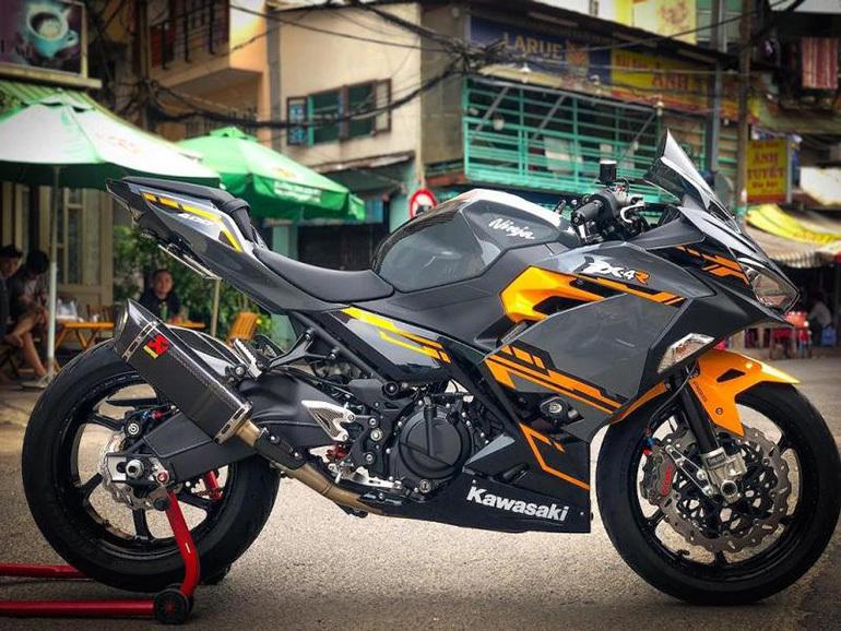 Kawasaki Ninja 400 sở hữu thiết kế hầm hố, cá tính