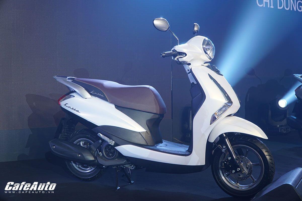 Yamaha Latte màu trắng trang nhã