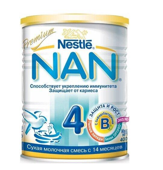 Sữa bột Nan 4 Nga - hộp 400g (dành cho trẻ từ 3 tuổi trở lên)