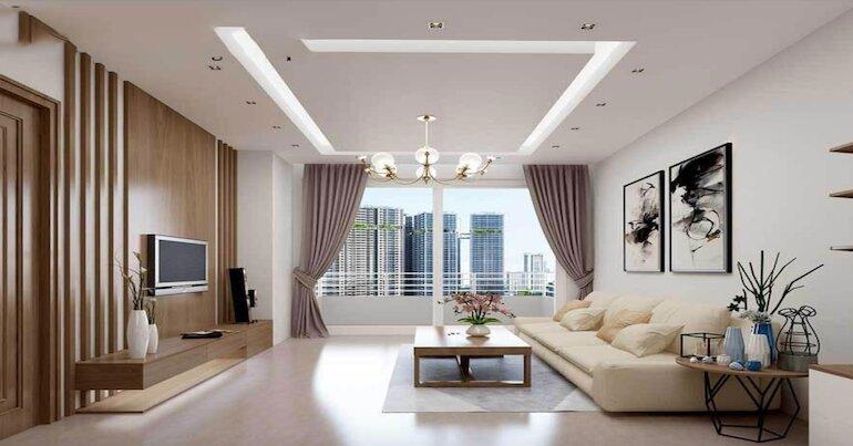 Sắp xếp nội thất phòng khách nhỏ theo quy luật đối xứng