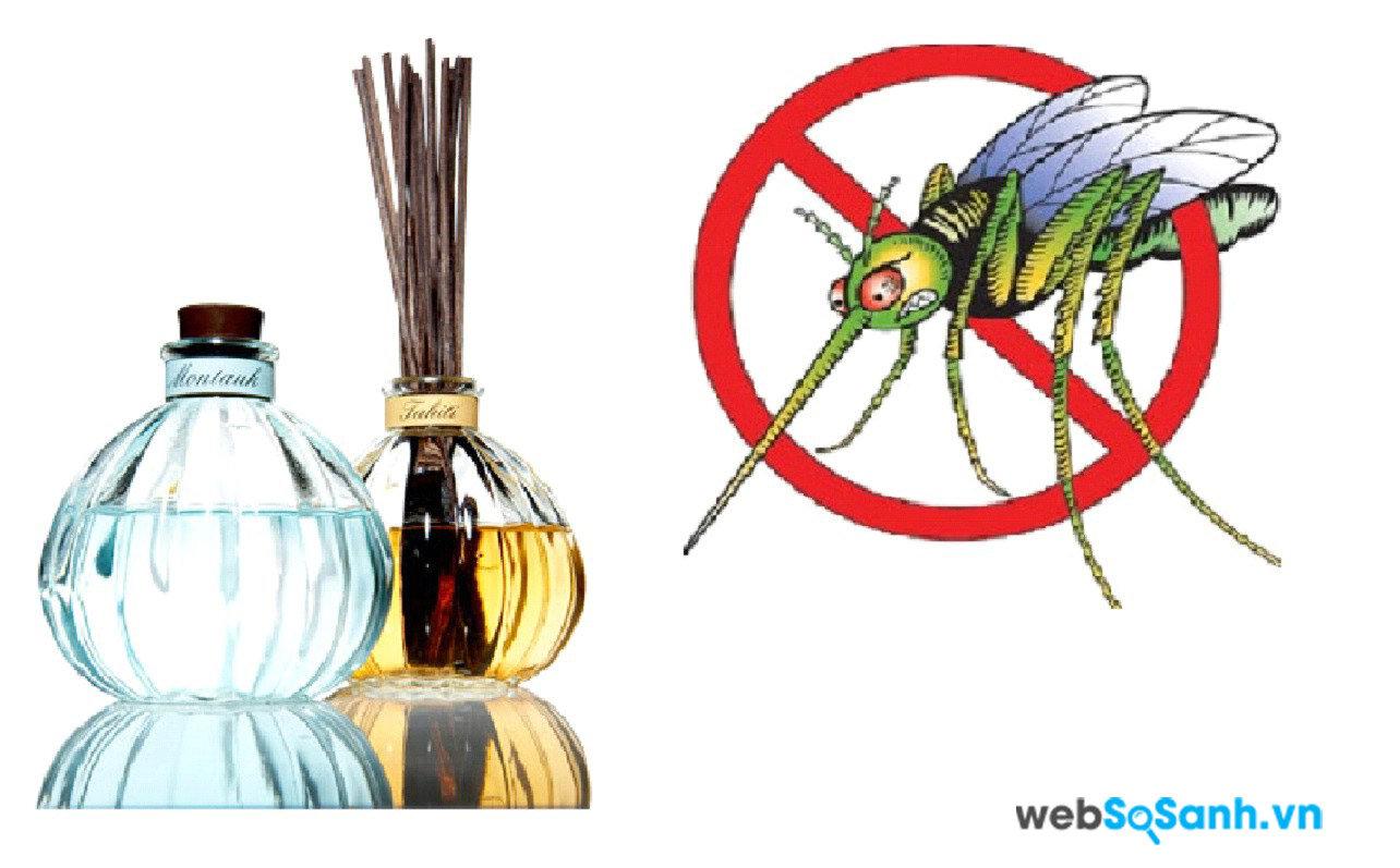 Máy xông muỗi sẽ xông các tinh dầu có tác dụng chống muỗi hiệu quả với hương thơm dễ chịu