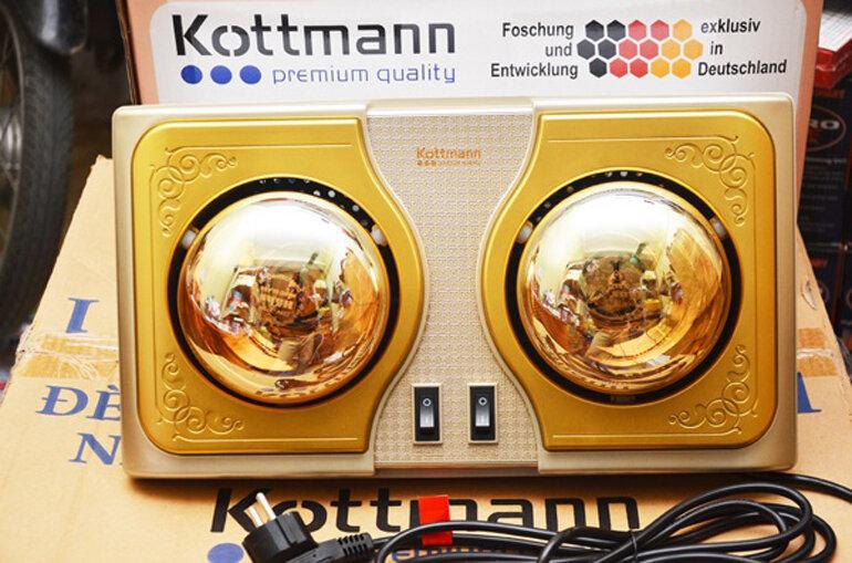 Đèn sưởi nhà tắm chính hãng thương hiệu Kottamnn nổi tiếng