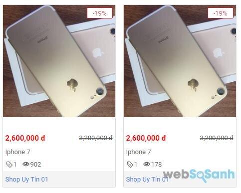 Điện thoại iPhone 7 giá rẻ