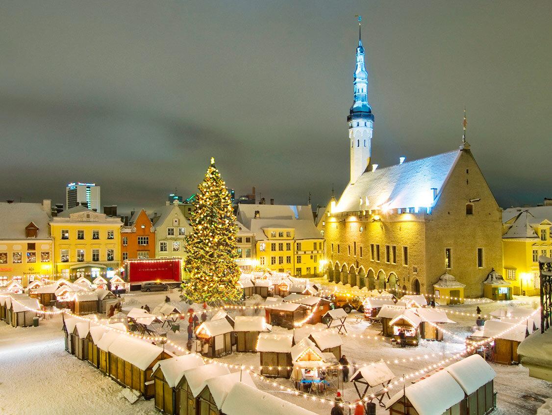 Sự lộng lẫy của Tallinn trong đêm Giáng sinh