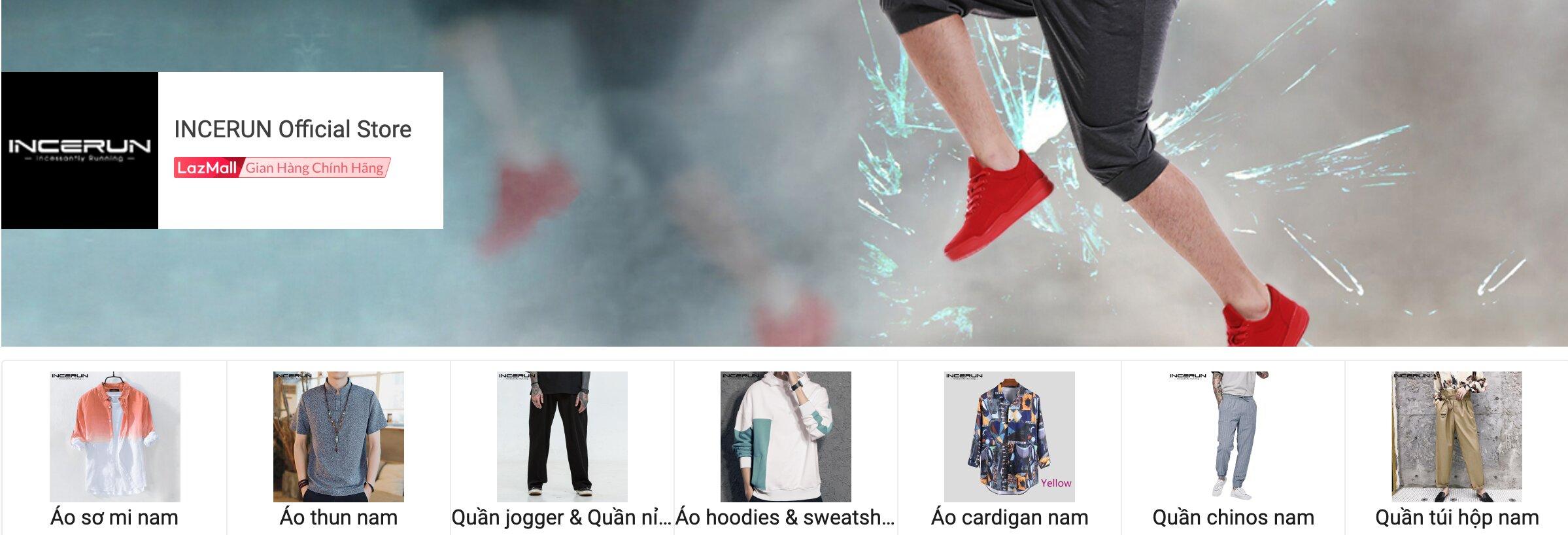 Coupon Lazada giảm 15k, 20k, 25k cho các sản phẩm của Incerun Official Store
