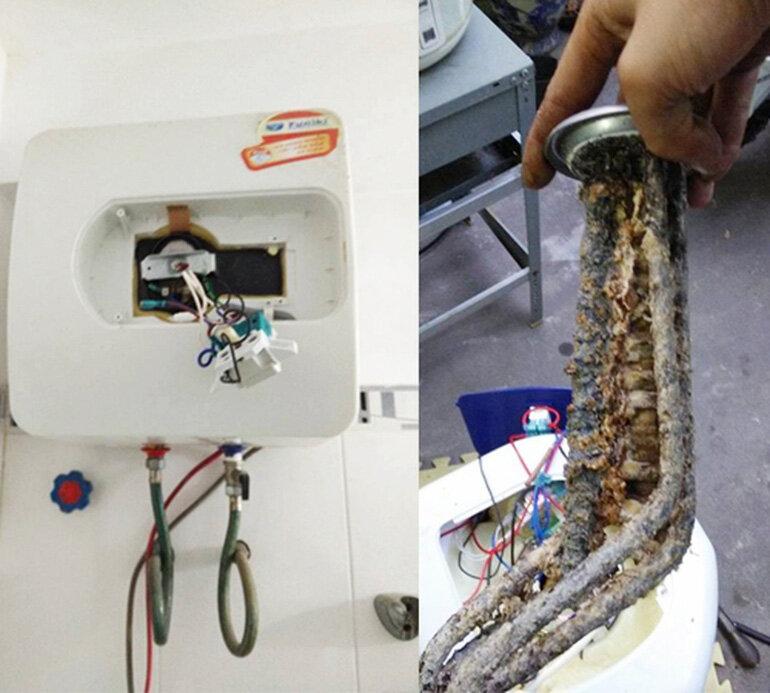 Rò rỉ điện ở bình nóng lạnh rất nguy hiẻm cho người sử dụng.