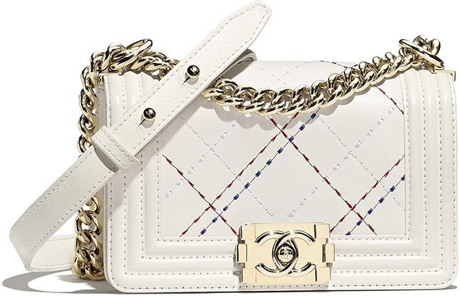 Chanel Small Embroidered Quilted Classic Boy Bag