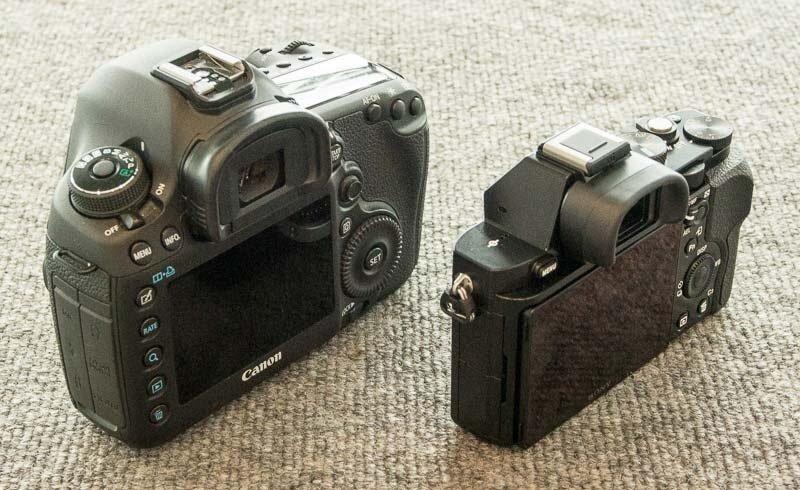 So sánh kích thước của Sony A7 và Canon 5D Mark III