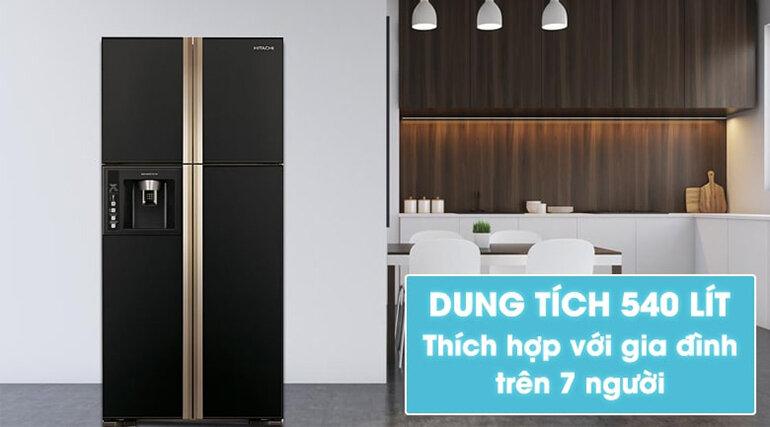 Tủ lạnh side by side Hitachi Inverter R-M700PGV2 (GBK)600 lít