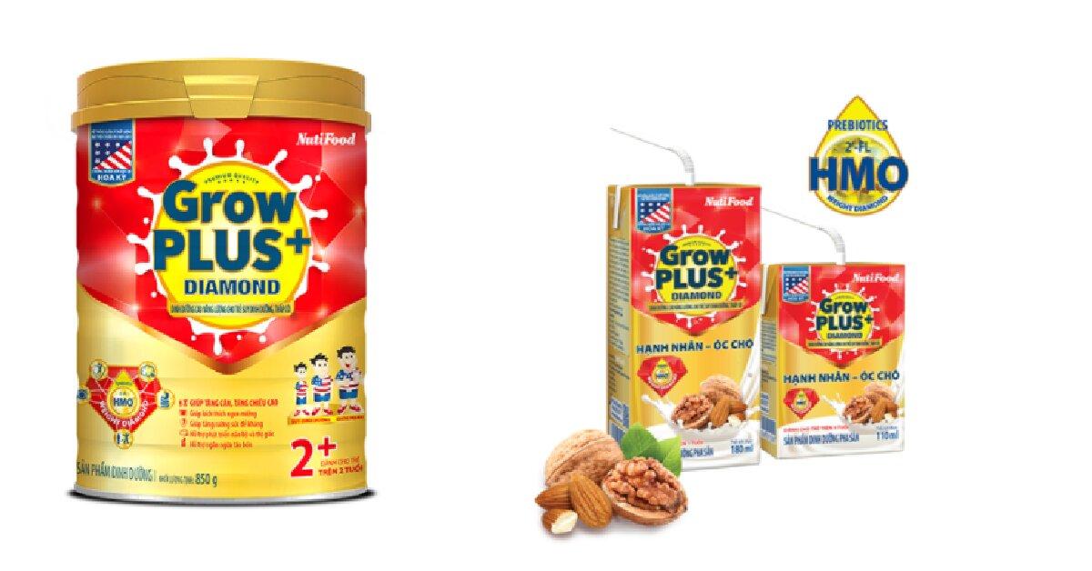 Đánh giá sữa GrowPlus+ Diamond - dinh dưỡng cao năng lượng cho trẻ suy dinh dưỡng và thấp còi
