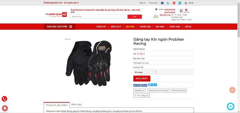 Găng tay Kín ngón Probiker Racing