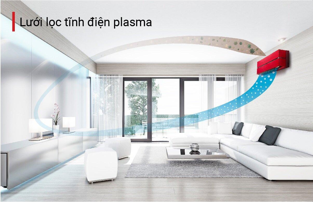 Máy lạnh Mitsubishi tích hợp lưới lọc tĩnh điện Plasma