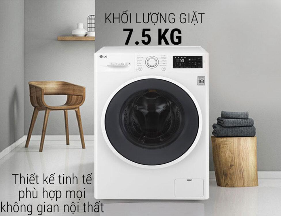 Trọng lượng giặt của máy giặt LG cửa ngang phù hợp nhu cầu của nhiều gia đình