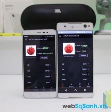 So sánh AnTuTu Benchmark của C5 Ultra và Redmi Note 3