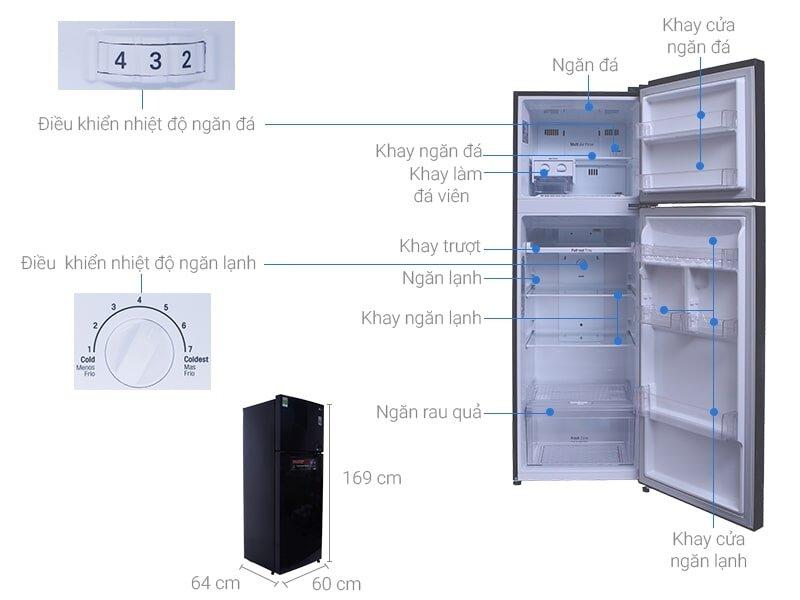 Tủ lạnh LG GN-l315ps thiết kế tinh tế.