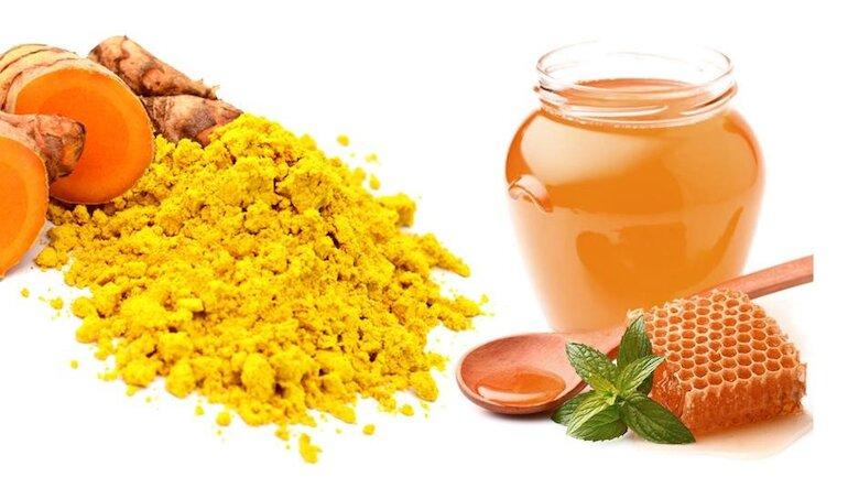 Mật ong và tinh bột nghệ giảm cân và trị đau dạ dày