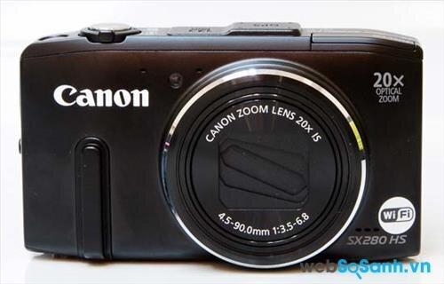 Máy ảnh du lịch Canon PowerShot SX280 HS được trang bị kết nối Wi-Fi chuẩn b/g/n