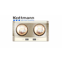 Đèn sưởi nhà tắm Kottmann K2B-Q - 2 bóng