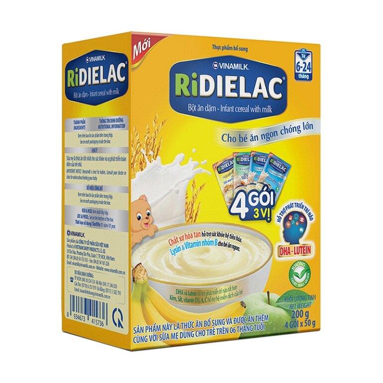 Thành phần dinh dưỡng phong phú trong bột ăn dặm Ridielac giúp trẻ phát triển toàn diện