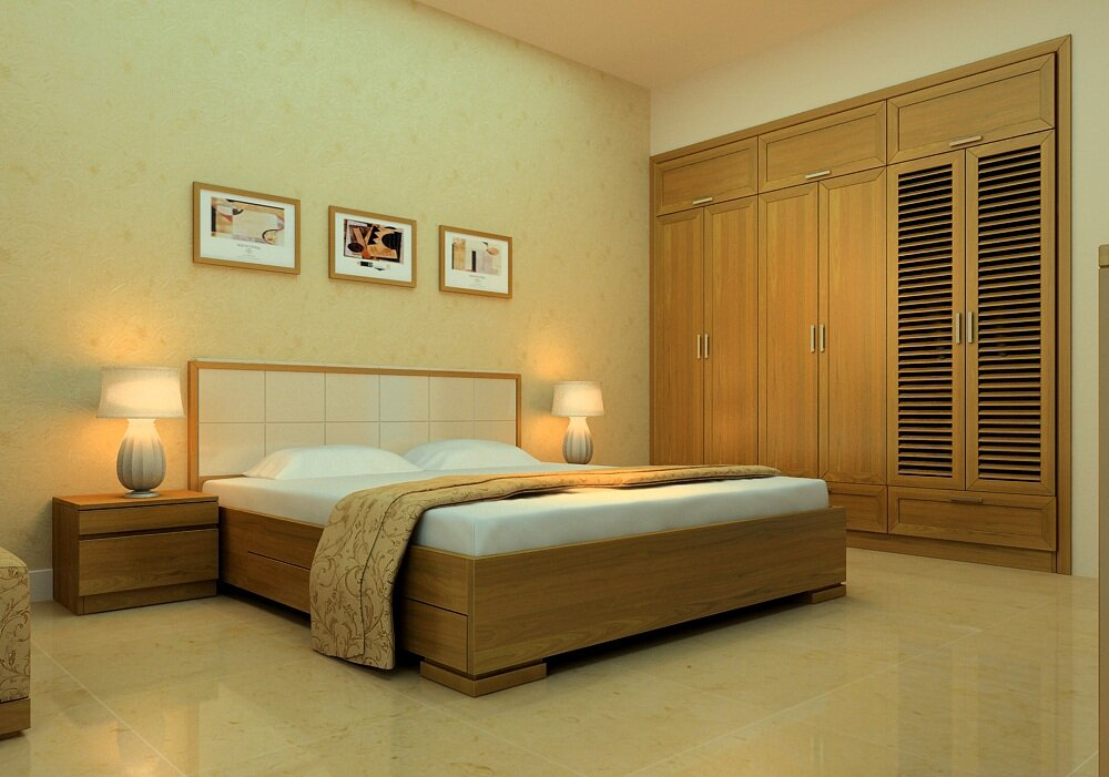 Giường đơn Cozino Sintra gỗ sồi 1.2m