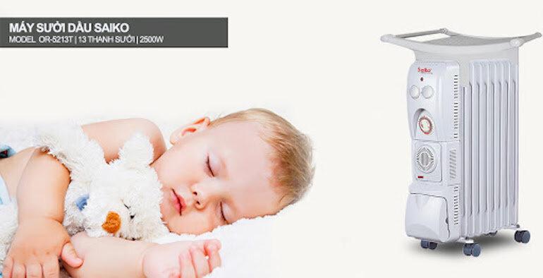 Những lý do bạn nên sử dụng đèn sưởi cho bé