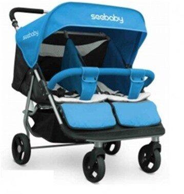 xe đẩy đôi trẻ em seebaby T22