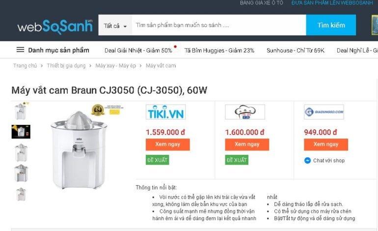 Máy vắt cam Braun CJ3050 của Đức - Giá rẻ nhất 949.000 vnđ