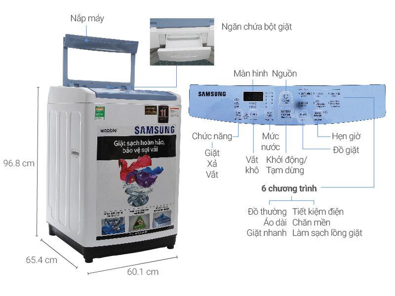 Máy giặt Samsung Activ Dualwash 8.5kg WA85J5712SG