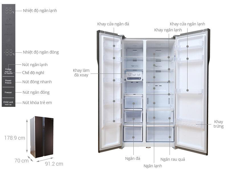 Tủ lạnh Samsung RS552NRUA9M/SV với đầy đủ tiện nghi sẽ mang lại trải nghiệm tuyệt vời cho gia đình bạn.