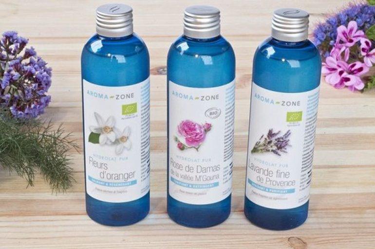 nước hoa hồng tươi aroma zone cho da nhạy cảm simple