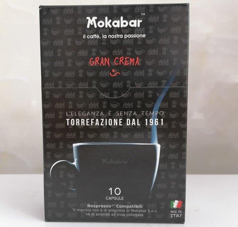 Viên nang cà phê Mokabar Nespresso Gran Crema