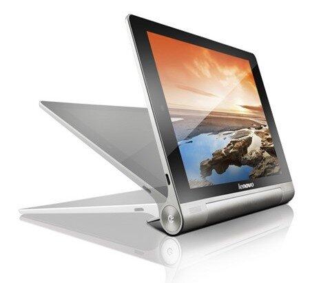 Chân đế đặc biệt của Yoga Tablet giúp chiếc máy tính bảng này có thể đứng ở 3 chế độ khác nhau