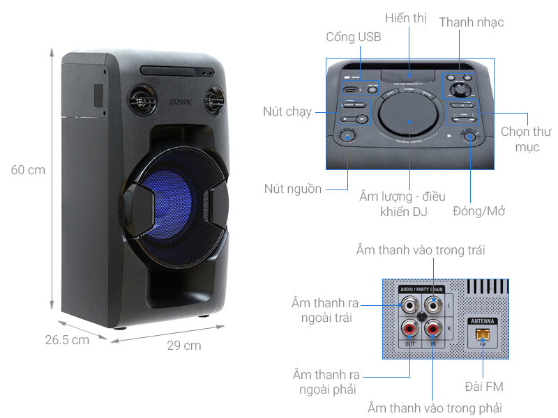 Loa kéo Sony V11