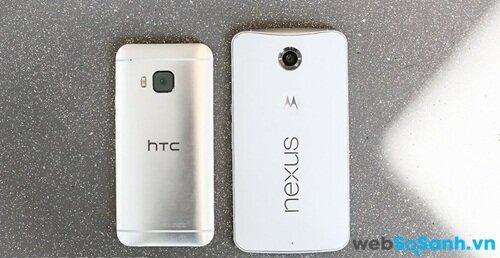 Nếu như Nexus 6 lớn hơn, thì HTC One M9 chắc chắn là sáng hơn.