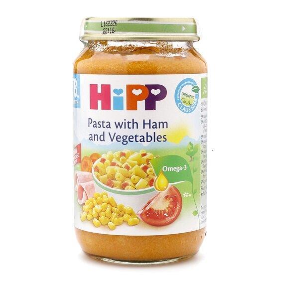 Dinh dưỡng đóng lọ thịt giăm bông, mì ống và rau củ HiPP