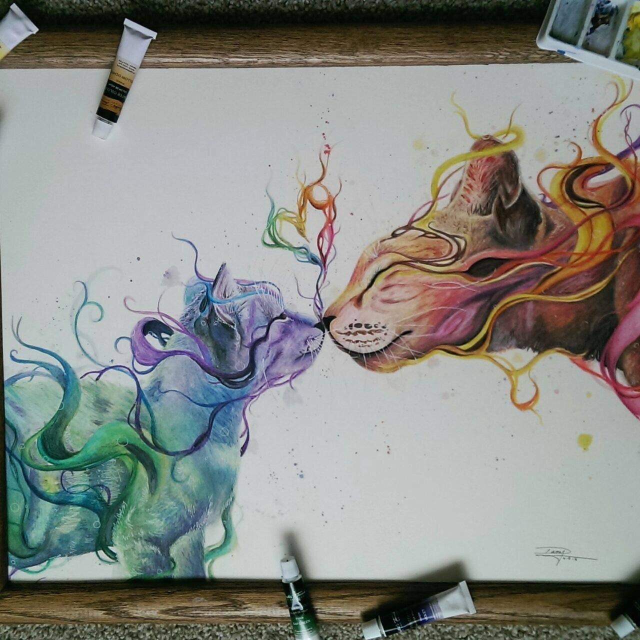 Bức tranh màu nước được khắc họa sáng tạo của họa sĩ Dany Lizeth