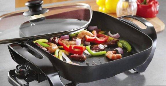 Chảo điện đa năng tích hợp nhiều chế độ nấu nướng