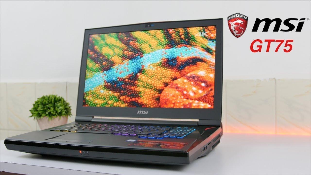 Máy MSI GT75 8RG-235VN Titan có bàn phím Led nhiều màu và dải âm thanh sống động