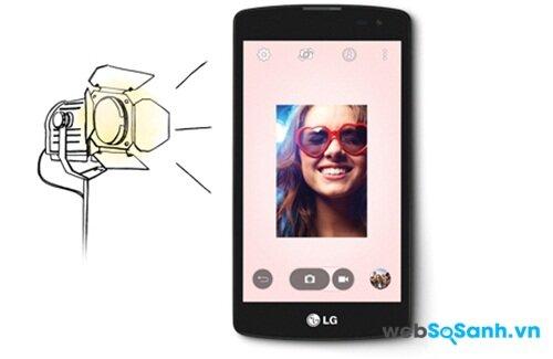 Điện thoại LG L Fino còn có tính năng đèn Flash ảo