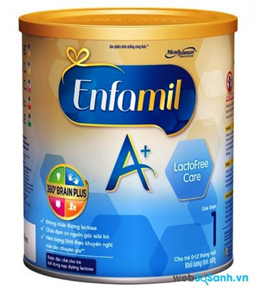Sữa bột Enfamil A+ Lactofree Care