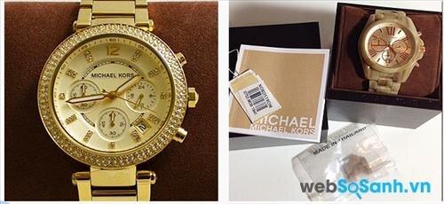 Hộp chứa đồng hồ Michael Kors cần có đầy đủ giấy bảo hành chính hãng, và sổ hướng dẫn