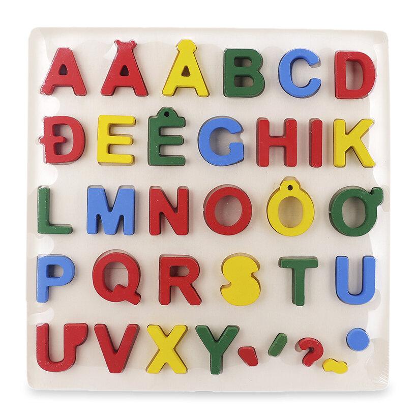 Bảng ghép hình chữ cái tiếng Việt nổi Vivitoys, giúp bé học bảng chữ cái tiếng Việt, các thanh điệu, học cách ghép vần, ghép từ.