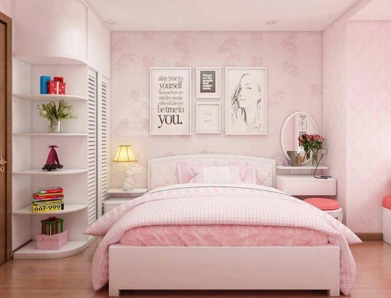 Những chú ý khi thiết kế nội thất phòng ngủ cho bé gái