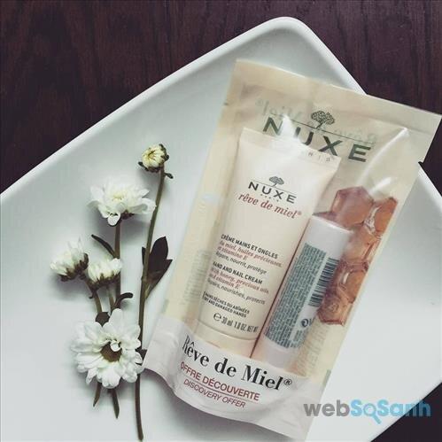 Kem dưỡng da tay và son dưỡng môi của Nuxe sẽ là