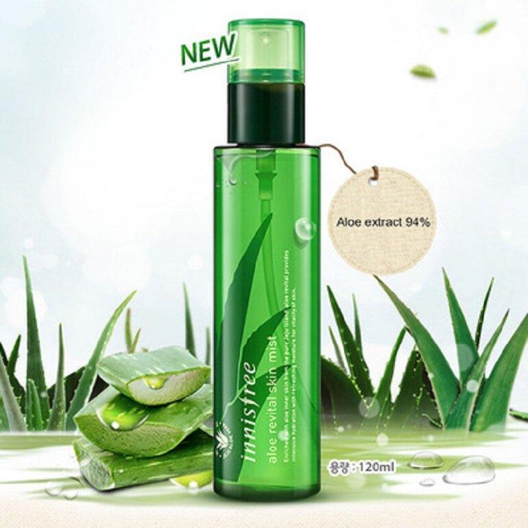 Xịt khoáng Innisfree Aloe Revital Skin Mist